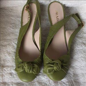 Shoes - Prada sling back sandals.